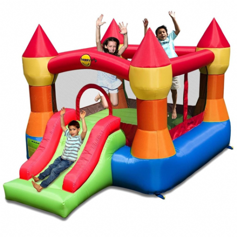 Kids Super Party 12ft Turret Inflatable Bouncy Castle